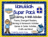Hanukkah Super Pack!  Literacy & Math Activities, Centers & More!  CC Aligned!