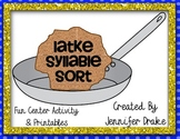 Hanukkah Syllable Game 'Latke Syllable Sort' Great Center & CC Aligned!