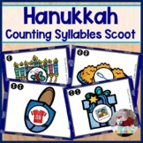 Hanukkah Syllable Scoot or Literacy Center