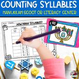 Hanukkah Syllable Scoot or Literacy Center