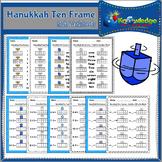 Hanukkah Ten Frame Math Worksheets
