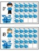 Hanukkah Ten Frames 3-Part Cards for 0-20