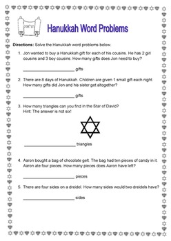 Hanukkah Thematic Unit Grades 1-2