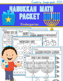 Hanukkah Theme Math Packet for Kindergarten