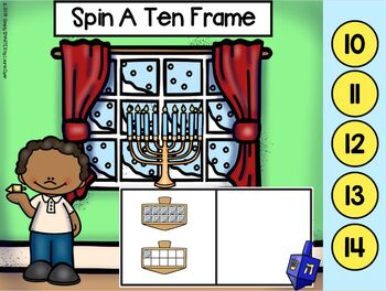 Hanukkah Themed Ten Frame Activities For GOOGLE CLASSROOM