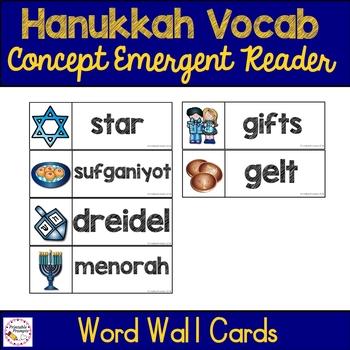 Hanukkah Vocabulary Emergent Reader