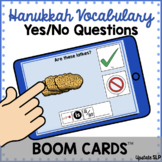Hanukkah Vocabulary Yes/No Questions with Sentence Strip B