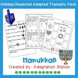 Adapted Thematic Pack: Hanukkah