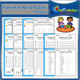 Hanukkah Word Puzzle Worksheets