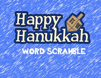 Hanukkah Word Scramble