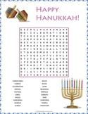 FREE Hanukkah Word Search - Chanukah Word Search