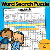 Hanukkah Word Search Puzzle - Unscramble and Find