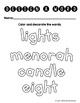 Hanukkah Word Work Activities