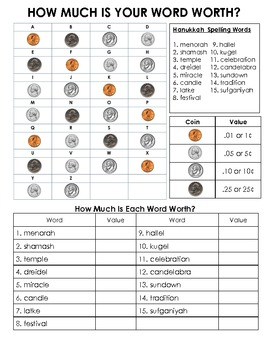 Hanukkah Words and Activity Packet