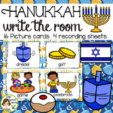 Hanukkah Write the Room  - 16 cards four versions, four recording sheets