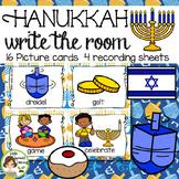 Hanukkah Write the Room  - 16 cards four versions, four re