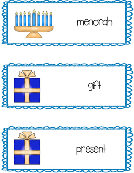 Hanukkah Writing Center Cards