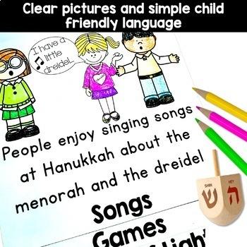 Hanukkah activities - flip book and menorah craft