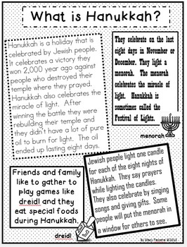 Hanukkah and Kwanzaa: Non-fiction Text and Extended Resources