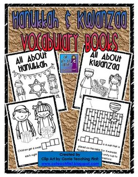 Hanukkah and Kwanzaa Vocabulary Books