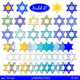 Hanukkah clip art frames - Star of David .png digital clipart TPT194