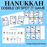 Hanukkah dobble or spot it card game