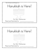 Hanukkah is Here Emergent Reader