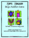 Hanukkah-themed Bingo Math Game, Basic Facts, Gr 1