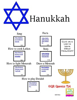 Hanukkah using QR Codes and Links