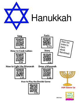 Hanukkah Listening Center using QR Codes and Links