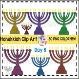 Hanukkiah Menorah Hanukkah Clip Art (Commercial Use)
