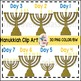 Hanukkiah Menorah Hanukkah Clip Art (Commercial Use)