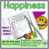 Happiness Joy Morning Meeting Activities w Google Slides