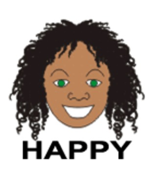 Happiness - One of Nine Faces of Emotions for Emotional In
