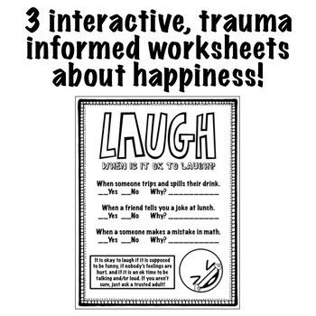 Happiness Worksheets: Trauma Informed Feelings Workbook