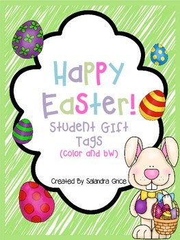 Happy Easter Student Gift Tags