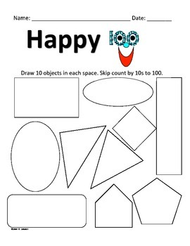 Happy 100 Days K-1 Math Practice and Fun