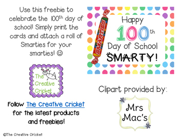 Happy 100th Day of School Smarty!