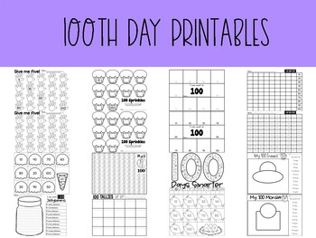 Happy 100th Day Activity Pack