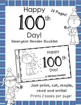 100 happy days booklet.