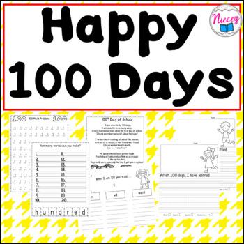 Happy 100th Day of School Activities