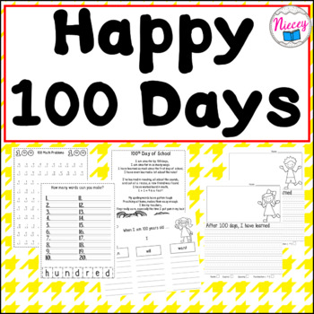 Happy 100th Day of School, I am 100 Days Smarter!