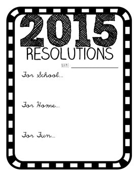 Happy 2015 Resolutions {free printable!}