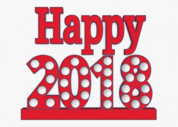 Happy 2018 Poster
