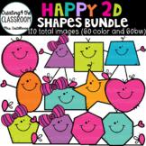 Happy 2D Shapes Clip Art {2D Shapes Clip Art}