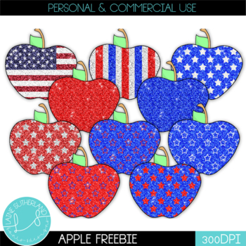 Happy 4th of July Apples Freebie!