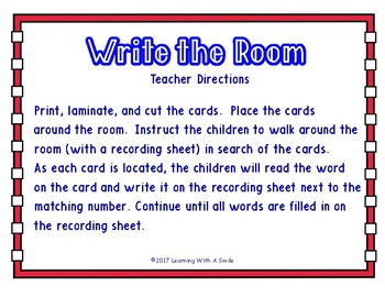 FREE 4th of July  - Write the Room