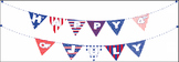 Happy 4th of July! Patriotic Bunting Banners Clipart - Dig