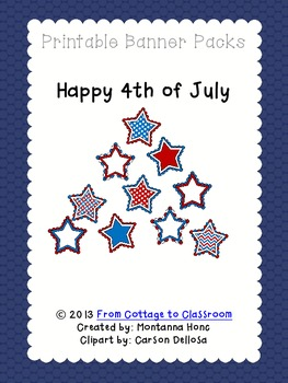 Happy 4th of July: Star Banner