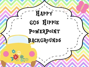 Happy 60s Hippie PowerPoint Backgrounds